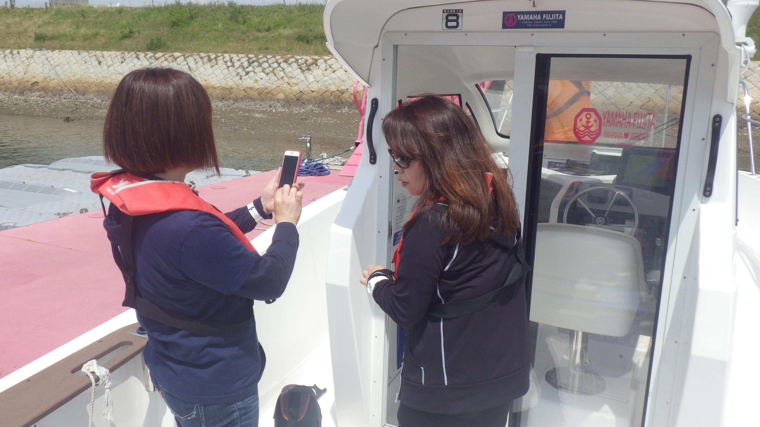 初めての船を撮影されていたのを撮影(笑)