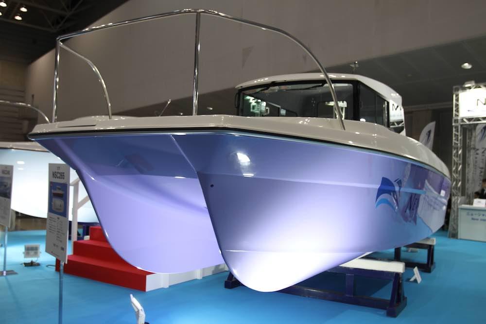 ニュージャパンヨットの参考出品。新型カタマランNSC265