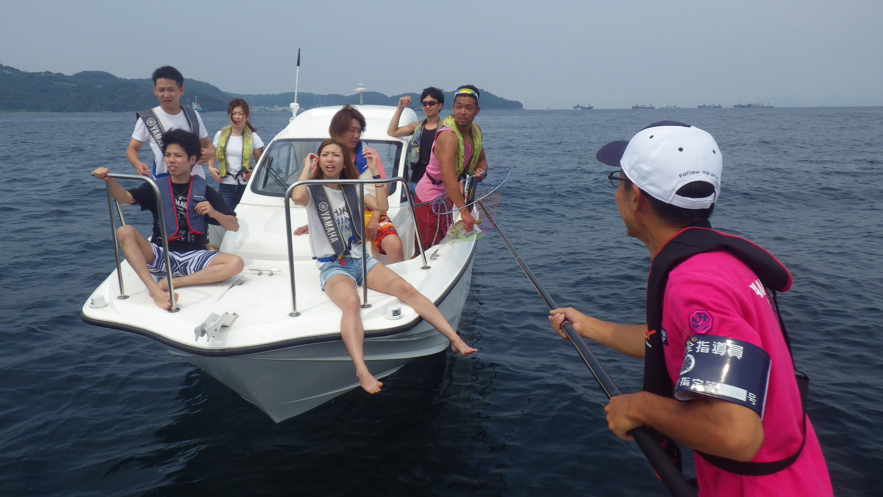 海遊び中のスタッフと遭遇!安全指導しました
