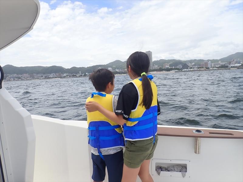 海から見る須磨海岸は絶景!