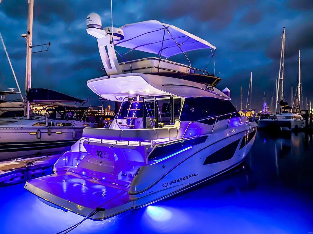 アメリカ 42フライの水中LEDライトで夜を照らします
